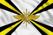 Флаг войск связи с желтыми полосами