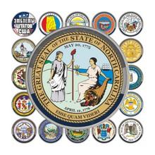 Коллекция монет «Эмблемы штатов США» (55 шт.)