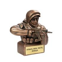Скульптура «Боец спецназа с АКСУ»