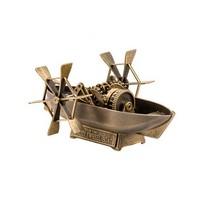 Лодка Леонардо да Винчи с гребным колесом, масштабная модель
