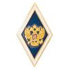 Академический нагрудный знак (ромб) «Об окончании университета», синий
