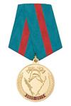 Медаль «10 лет противопожарной службе Сахалинской области» (2005 - 2015) с бланком удостоверения