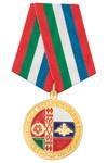"""Медаль «Совместное стратегическое учение """"Запад-2013""""» с бланком удостоверения"""