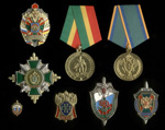 Коллекция знаков и медалей «Пограничная служба ФСБ» из 8 шт.