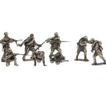 Набор солдатиков «Пехота Красной Армии» 9 шт., масштабная модель