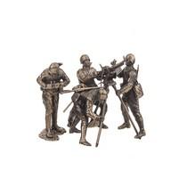 Набор Солдатиков «Расчет с крупнокалиберным пулемётом ДШК» 4шт., масштабная модель 1:35