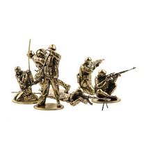 Набор солдатиков «Советские десантники в Афганистане» 6шт., масштабная модель 1:35