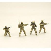 """Набор солдатиков """"Спецназ России"""" 4шт., масштабная модель 1:35"""