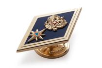 Удостоверение к награде Знак отличия (ромб) «За окончание АГЗ МЧС России по программе бакалавриата» (на винте)