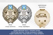 Общественный знак «Почётный житель города Большого Камня Приморского края»