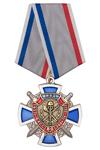 Знак «80 лет службе БХСС – ЭБ и ПК МВД России» на колодке с бланком удостоверения