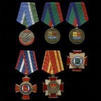 Комплект из 6 знаков и медалей административных образований