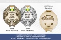 Общественный знак «Почётный житель города Ворсмы Нижегородской области»