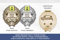 Общественный знак «Почётный житель города Городовиковска Республики Калмыкия»