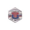 "Знак на лацкан «Логотип ПО ""МАЯК""» (""серебряный"")"