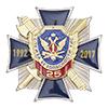 Знак 3-уровневый «25 лет службе безопасности УИС России» без колодки