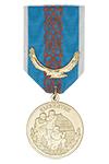 Медаль «15 лет СОБР Кустанайской области РК» с бланком удостоверения