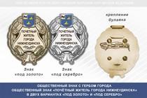 Общественный знак «Почётный житель города Нижнеудинска Иркутской области»