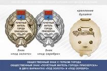 Общественный знак «Почётный житель города Приозерска Ленинградской области»