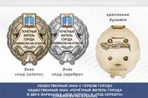 Общественный знак «Почётный житель города Славянска-на-Кубани Краснодарского края»