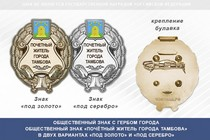 Общественный знак «Почётный житель города Тамбова Тамбовской области»