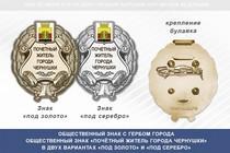 Общественный знак «Почётный житель города Чернушки Пермского края»