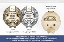 Общественный знак «Почётный житель города Шадринска Курганской области»