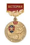 Медаль «100 лет транспортной полиции. Ветеран» с бланком удостоверения