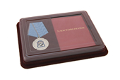 Наградной комплект к медали «20 лет возрождению Терского казачьего войска» с бланком удостоверения