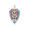 Знак «100 лет Управлению Уголовного розыска по Калининградской области» с бланком удостоверения