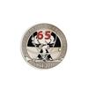 Фрачный знак «65 лет подразделениям особого риска (ПОР)» на пуссете