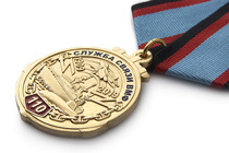 Медаль «110 лет службе связи ВМФ» с бланком удостоверения