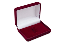 Футляр флокированный прямоугольный (47*70), бордовый