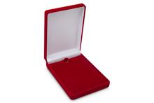 Футляр флокированный прямоугольный (8.3*10 см), красный