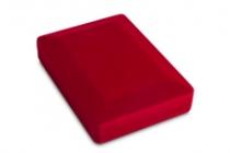 Удостоверение к награде Футляр флокированный прямоугольный (8.3*10 см), красный