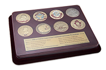 Коллекция из 8 медалей «100 лет со дня образования СССР» в футляре