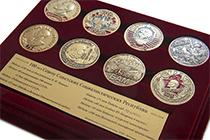 Купить бланк удостоверения Коллекция из 8 медалей «100 лет со дня образования СССР» в футляре