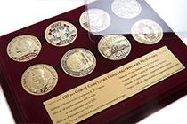 Удостоверение к награде Коллекция из 8 медалей «100 лет со дня образования СССР» в футляре