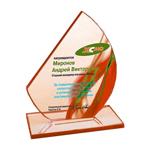 Награда из стекла, с индивидуальным дизайном (вариант 3)
