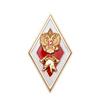 Знак отличия (ромб) «За окончание ВУЗ МЧС по программе специалитета» (красный/белый)