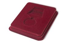 Удостоверение к награде Футляр флокированный под медаль РФ d-35 мм, широкий