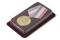 Футляр флокированный под медаль РФ d-35 мм