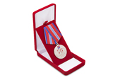 Футляр велюровый под знак/медаль, красный