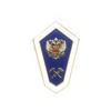 Нагрудный знак «Об окончании технического ССУЗа», вар. 1, с накладным гербом