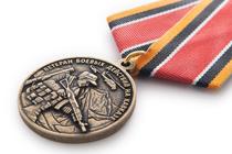 Медаль «Ветеран боевых действий на Кавказе» с бланком удостоверения