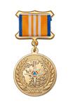 Медаль официальная МЧС России на квадроколодке «30 лет МЧС России» с бланком удостоверения