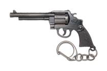 Металлический брелок с подвеской «Револьвер» 77 мм