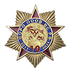Памятный знак «10 лет МОРО ОООВ ВС РФ» с бланком удостоверения