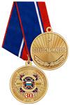 Медаль «30 лет АРПОиС РФ» с бланком удостоверения