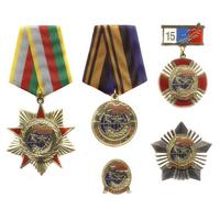 Комплект знаков «15 лет «Боевому братству»